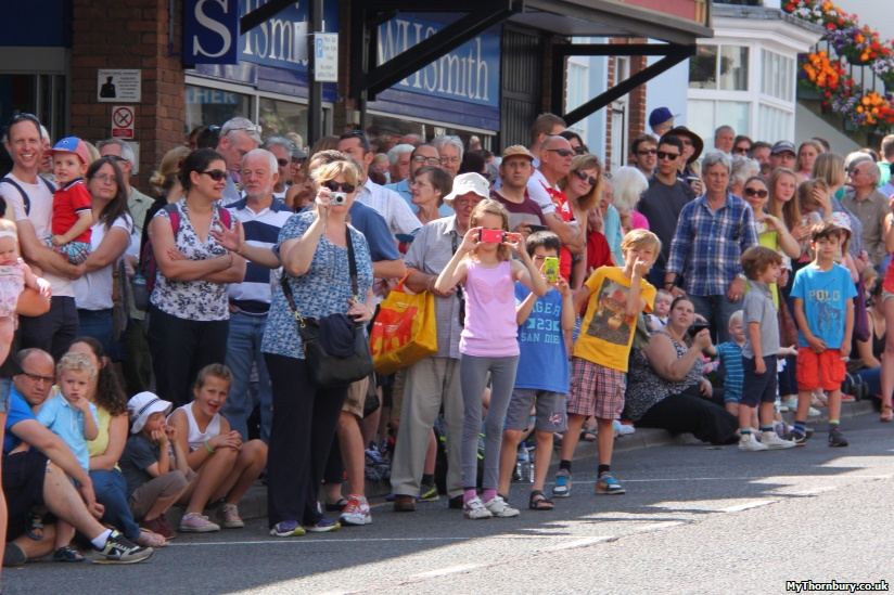 Crowds lined the High Street for a great view