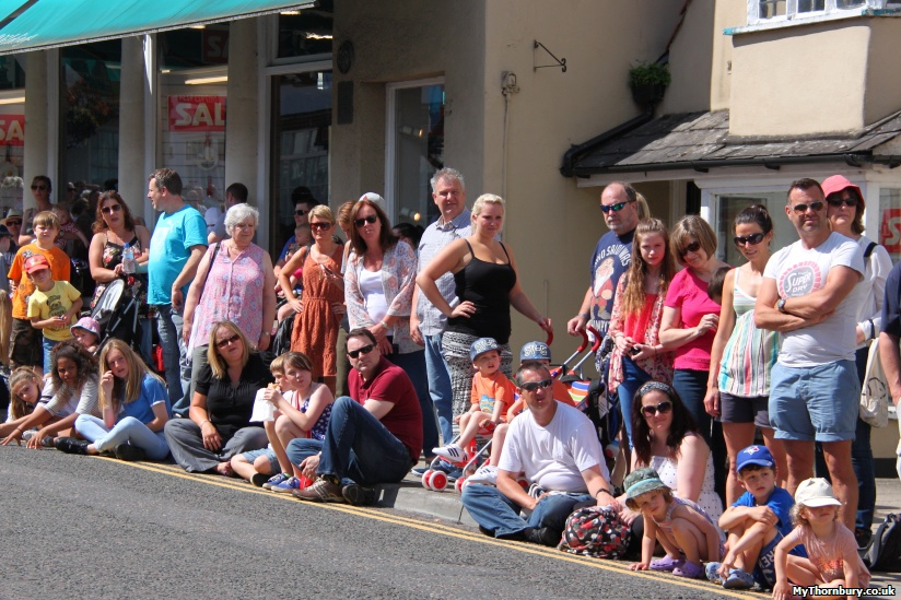 Waiting for the procession outside Wildings