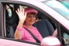 One of the pink cars