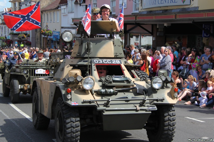 Military Vehicles in the parade