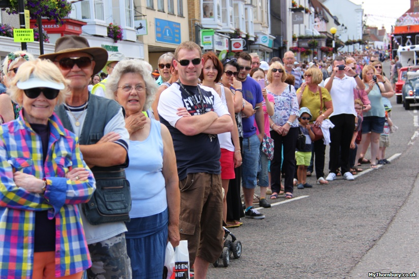 Parade spectators on the High Street