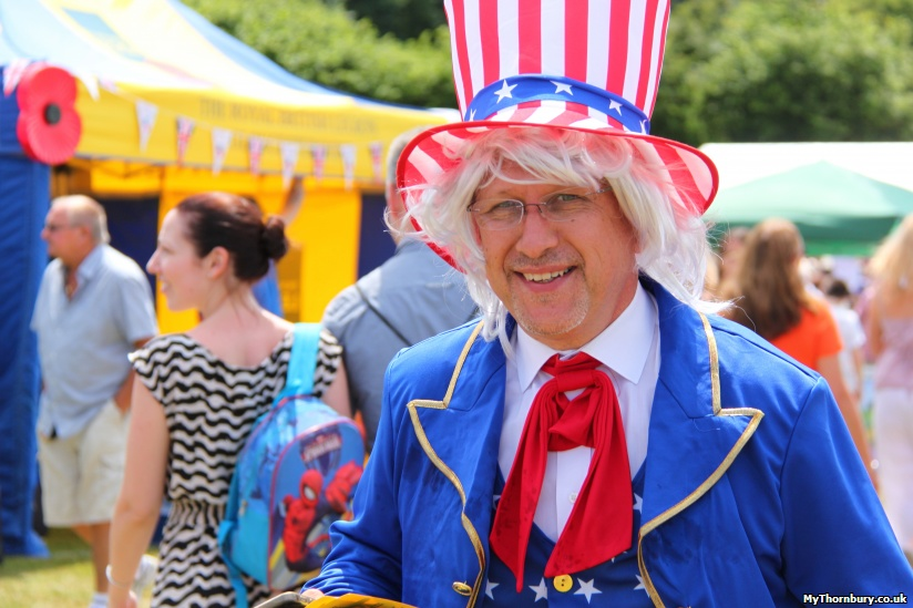Vehicles Manager Ian Walker as Uncle Sam!
