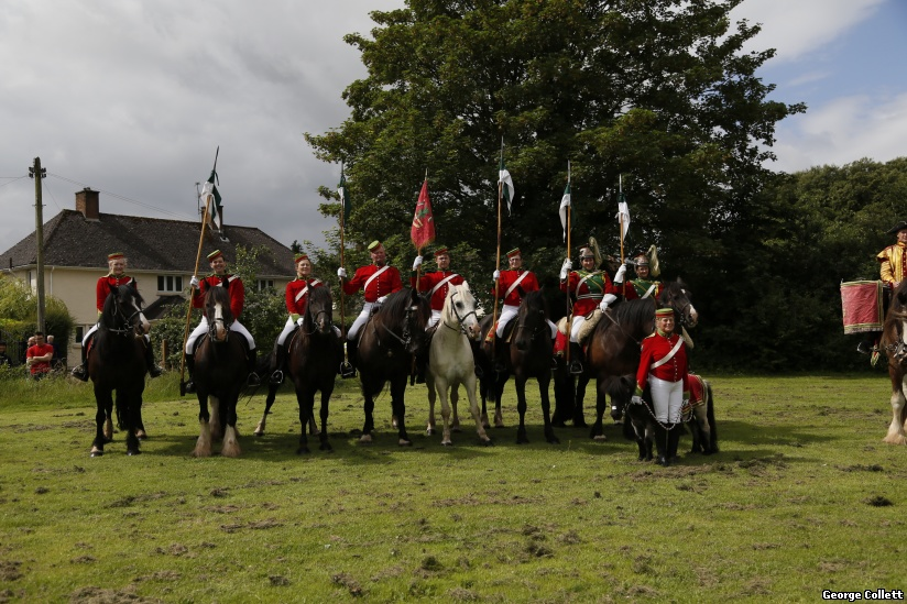 Welsh Horse Yeomanry ready for the parade