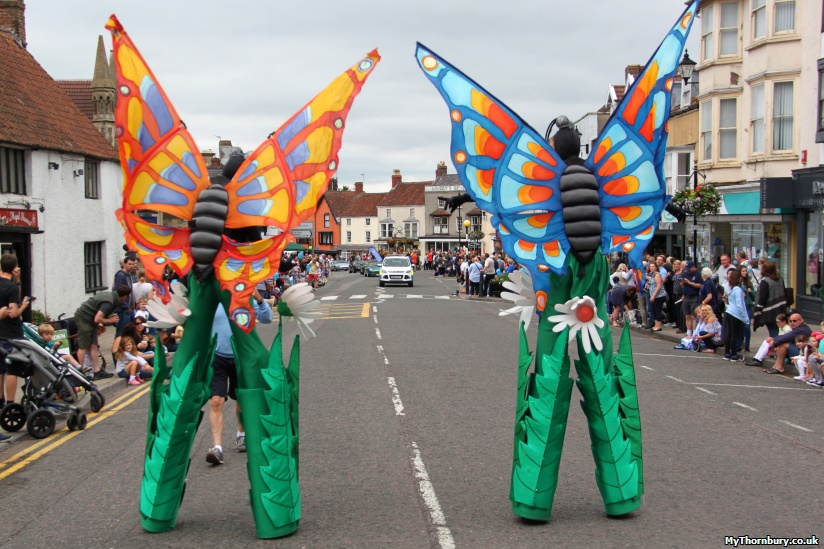 Butterflies welcome the cavalcade