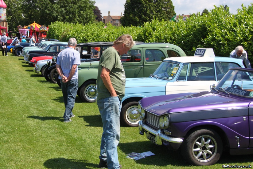 Cars on show