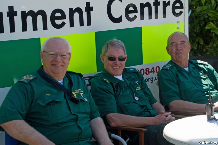 Ambulance crew at the ready