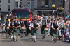 Bristol Pipes and Drums, pursued by fire engine