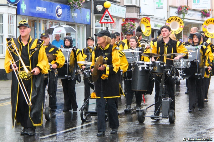 Gugge 2000 Band at  the 2014 Thornbury Carnival