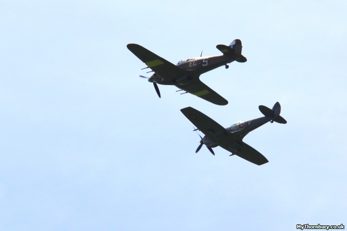 Battle of Britain Memorial Flight flyby